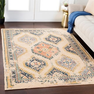 "Julius Wheat Traditional Wool Blend Area Rug - 5'3"" x 7'6"""