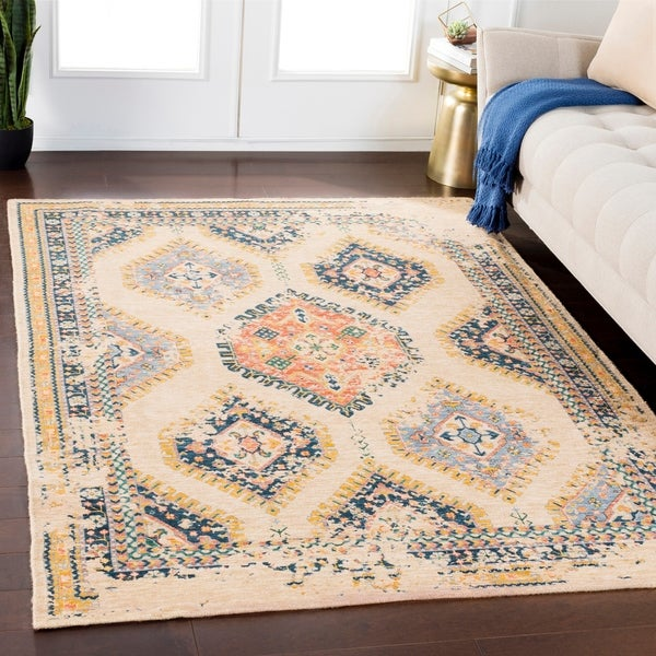 Shop Julius Wheat Traditional Wool Blend Area Rug
