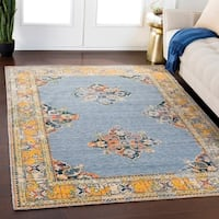 "Gideon Denim Traditional Wool Blend Area Rug - 5'3"" x 7'6"""