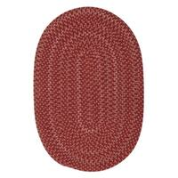 Colonial Mills Seena Red Bliss Wool Handmade Braided Area Rug - 9' x 12' Oval