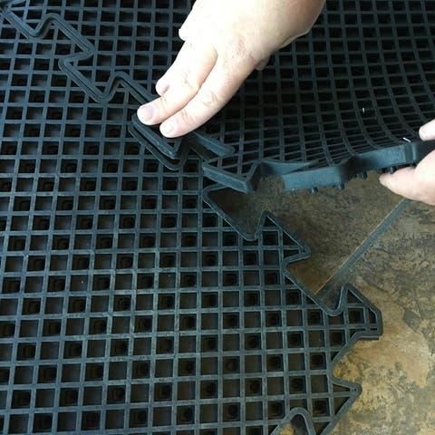 Buffalo Tools 4 Piece Interlocking Rubber Mat Set