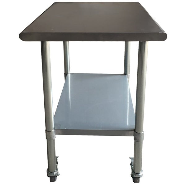 Shop Stainless Steel Work Table With Casters X Inches Free - Stainless steel work table with casters