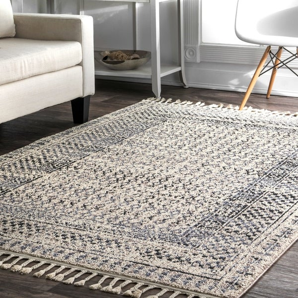 nuLOOM Contemporary Diamond Checkers Faded Area Rug. Opens flyout.