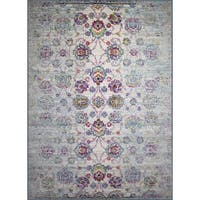 """Rug and Decor -Casba Collection- Cream and Multi-Color Traditional Rug - 9'2"""" x 12'1"""""""