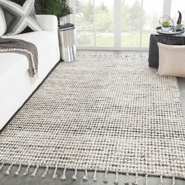 Armon Handmade Dot Ivory/ Black Area Rug - 2' x 3'