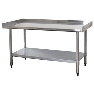 Upturned Edge Stainless Steel Work Table 24 x 48 Inches