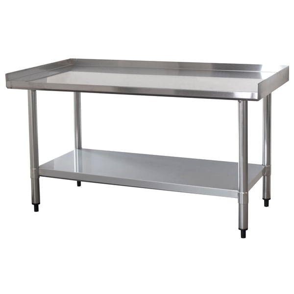 Shop Upturned Edge Stainless Steel Work Table 24 x 48 ...
