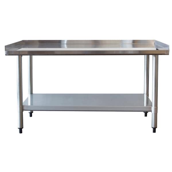 Splash Back Under Shelf Commercial 3 Foot Stainless Steel Table
