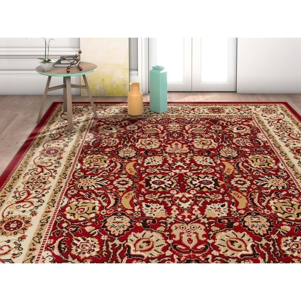 "Well Woven Traditional Oriental French Country Area Rug - 3'11"" x 5'3"""