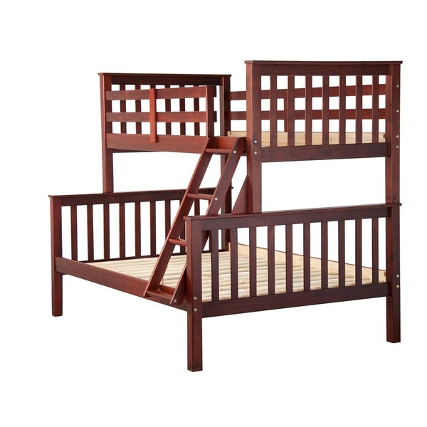 Mission Solid Pine Twin Over Full Bunk Bed by Palace Imports