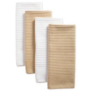 Design Imports Assorted Ribbed Terry Dishtowel Set of 4 (26 inches long x 16 inches wide) (Option: Pebble)