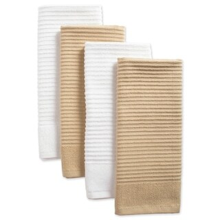Design Imports Assorted Ribbed Terry Dishtowel Set of 4 (26 inches long x 16 inches wide)