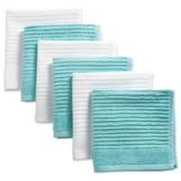 Design Imports Assorted Ribbed Terry Dishcloth Set of 6 (12 inches long x 12 inches wide)
