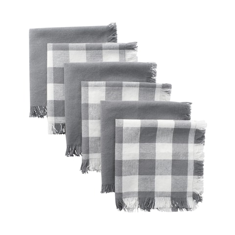 Design Imports Assorted Heavyweight Fringed Dishcloth Set of 6 (13 inches long x 13 inches wide)