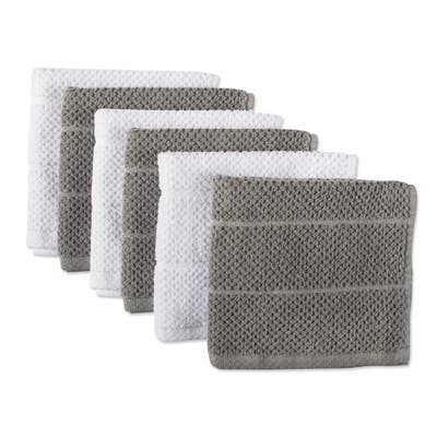 DII Assorted Basic Chef Terry Dishcloth Sets (Set of 6)