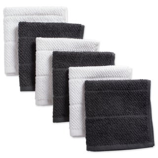 Design Imports Assorted Basic Chef Terry Dishcloth Set of 6 (12 inches long x 12 inches wide)