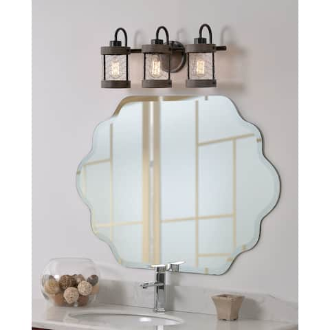 Grayson 3 Light Vanity - Wood and Oil Rubbed Bronze