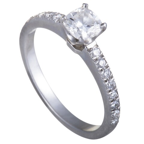 Pre-Owned Tiffany & Co. Platinum .49ct Diamond Engagement Ring