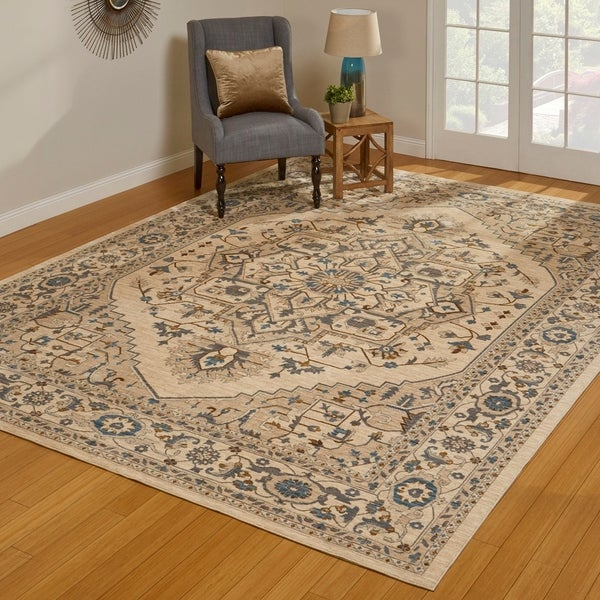 Gertmenian Darien Leland Cream Patterned Area Rug - 5x7
