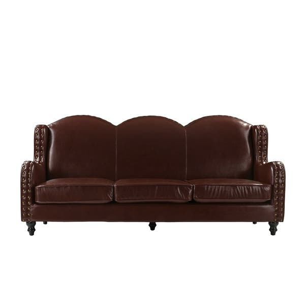 Shop Traditional 3 Seater Leather Sofa - Free Shipping Today ...