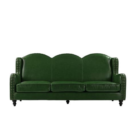 Green, Leather Furniture | Shop our Best Home Goods Deals Online at ...