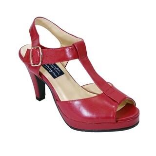 PEERAGE Margie Women Extra Wide Width High Heel Platform Sandals