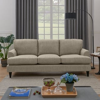 Handy Living Orlando SoFast Heather Grey Hereringbone Slipcover Sofa
