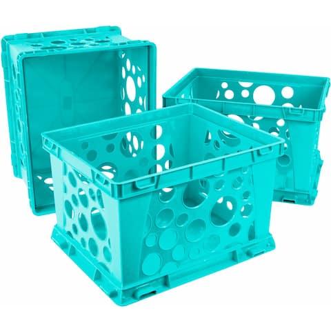 Storex Mini Crate / School Teal (3 units/pack)