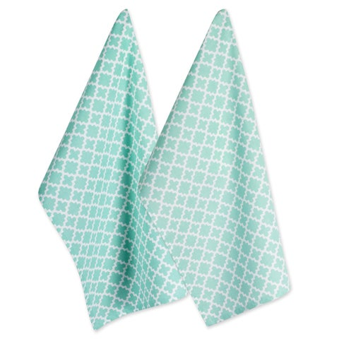 Design Imports Lattice Dishtowel Set of 2 (28 inches long x 18 inches wide)