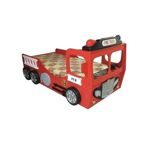 Fire Truck Red Toddler Car Bed