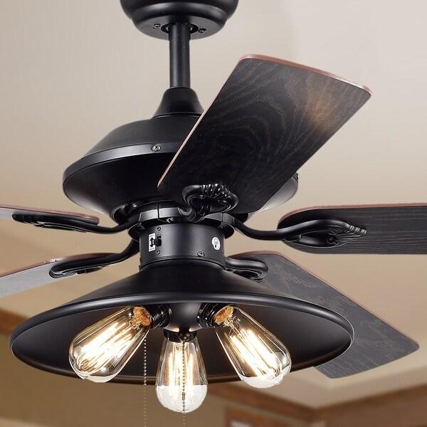 Light And Fan: Shop Upille 3-light Metal 5-blade 52-inch Matte Black