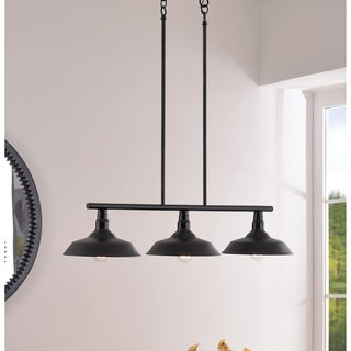 Link to Hoffman 3 Light Island Light - Black Finish Similar Items in Island Lights