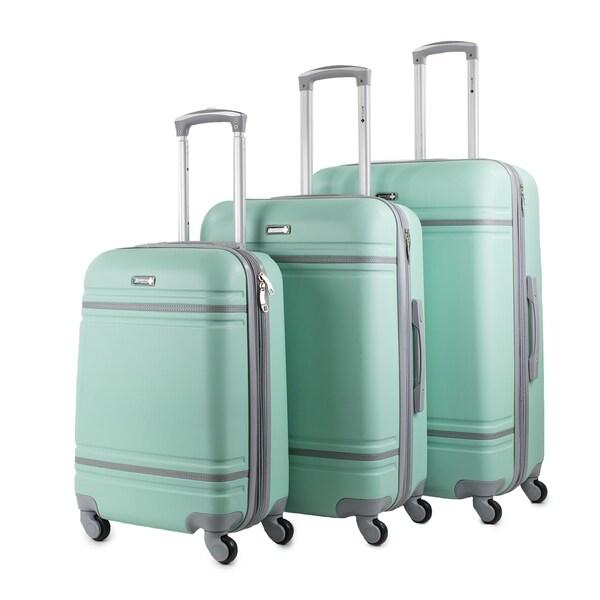 American Sport Plus Varsity 3-Piece Expandable Hardside Spinner Luggage Set