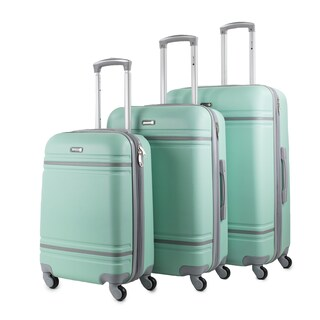 American Sport Plus Varsity 3-Piece Expandable Spinner Luggage Set