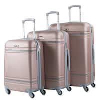 American Sport Plus Varsity 3-Piece Expandable Hardside Spinner Luggage Set