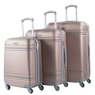 American Sport Plus Varsity 3-Piece Expandable Hardside Spinner Luggage Set (4 options available)
