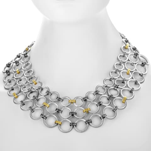 Gurhan Hoopla Women's Silver & Yellow Gold Necklace