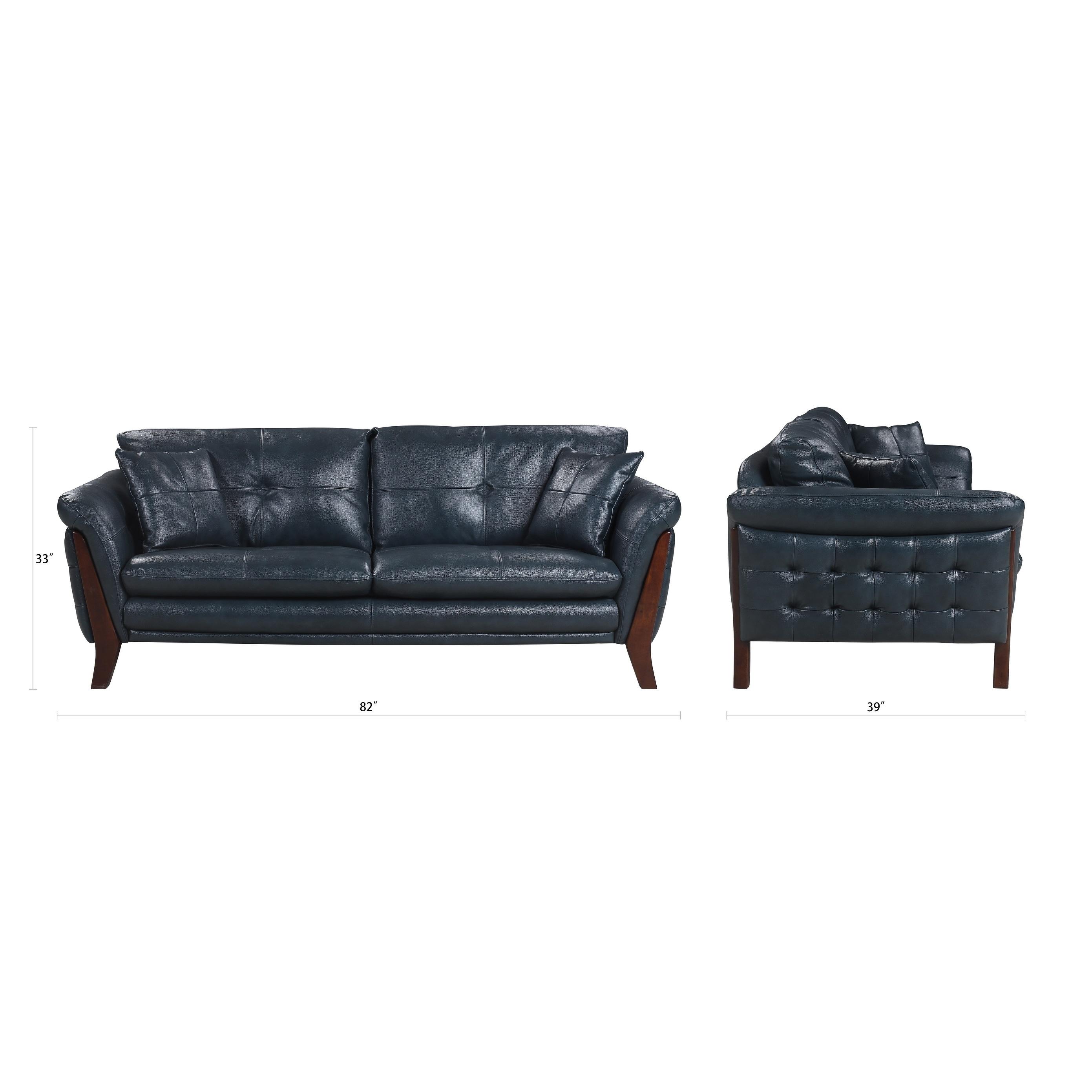 Mid Century Tufted Leather Sofa