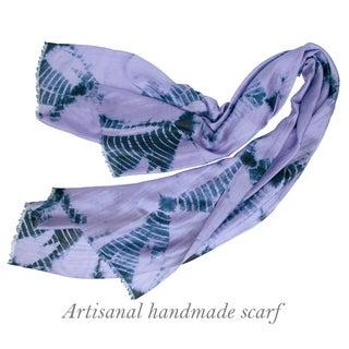 Radiate Shibori Shawl, Hand Dyed Silk Shawl, Silk Scarf, Lightweight Ladies Shawl