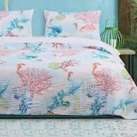 Barefoot Bungalow Sarasota Oversized Reversible Coastal Quilt Set