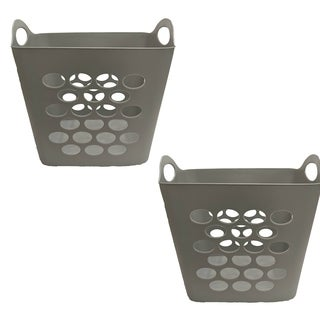 Square Flex Basket Grey, 2 Pack
