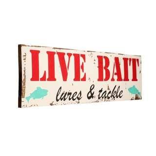 Vintage Fishing Live Bait Sign - 48 x 11.25