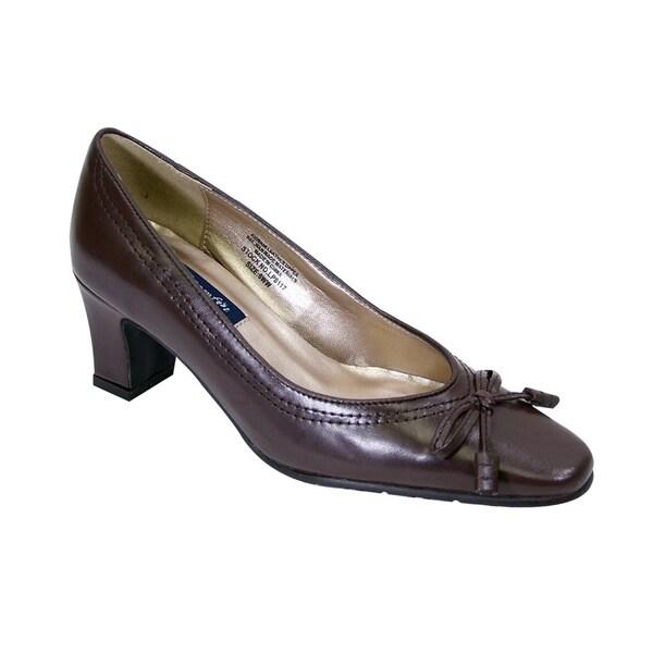 e1e30dd8908 Shop PEERAGE Cynthia Women Extra Wide Width Dress Pumps with Loop ...