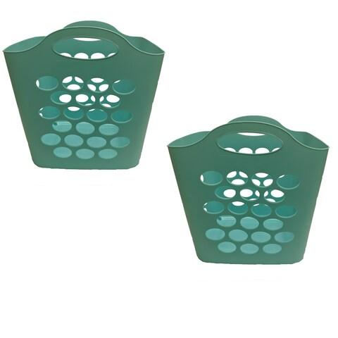 Square Flex Basket Teal, 2 Pack