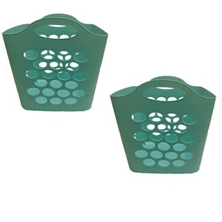 Square Flex Basket Teal, 2 Pack