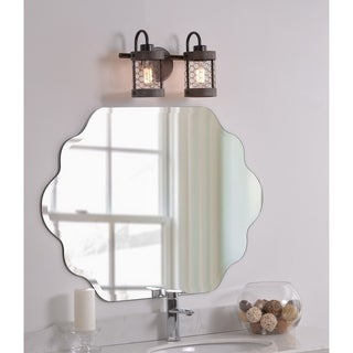 Design Craft Grayson 2 Light Vanity - Wood and Oil Rubbed Bronze