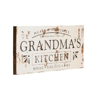 Farmhouse Sign Grandmas Kitchen in White