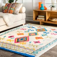 nuLOOM Multi Transitional Electric Print Medallion Boho Area Rug - 3' x 5'