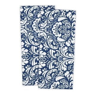 Design Imports Damask Dishtowel Set of 2 (28 inches long x 18 inches wide)