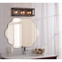 Grayson 3 Light Pocket Vanity - Wood and Oil Rubbed Bronze